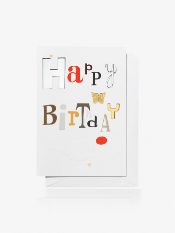 Открытка  Vitra Happy Birthday